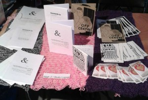 My stall at the zine festival